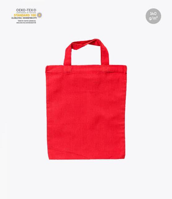 Apothekertasche unbedruckt rot 22 x 26 cm