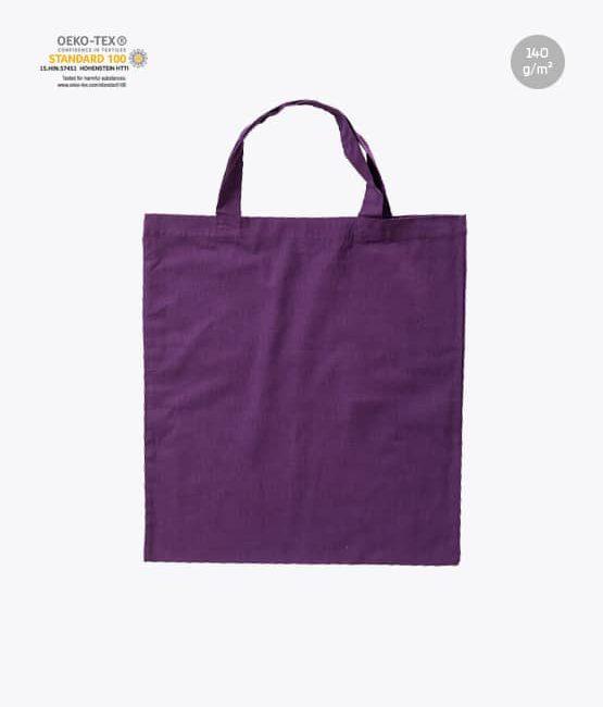 Baumwolltaschen kurze Henkel Lila Violett 38 x 42 cm