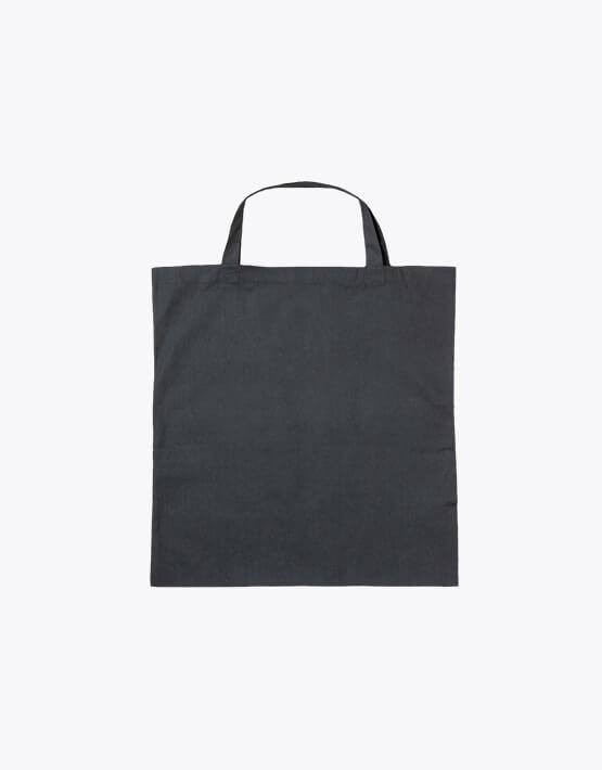 Baumwolltasche quadratisch 50x50cm kurze Henkel schwarz