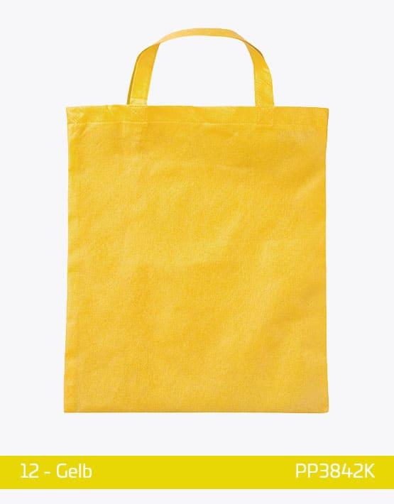 PP Tasche Gelb kurze Henkel