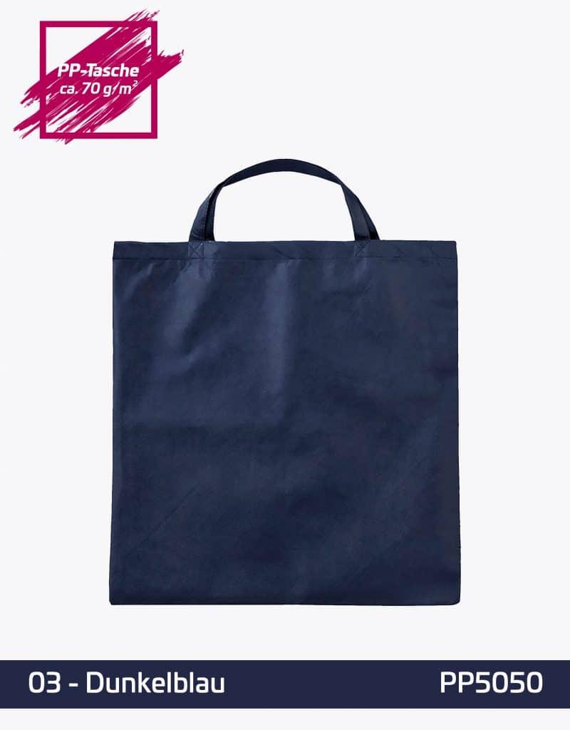PP Tasche Quadratisch dunkelblau kurze Henkel 50x50cm