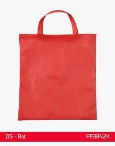 PP Tasche Rot kurze Henkel