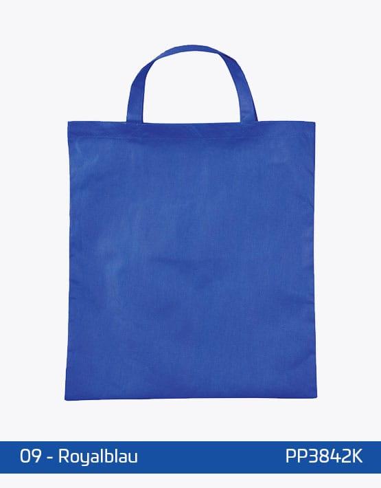 PP Tasche Royalblau kurze Henkel