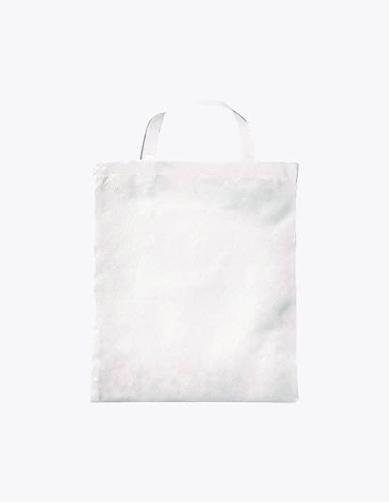 PP-Tasche kurze Henkel Bodenfalte und Seitenfalte 38 x 42 cm