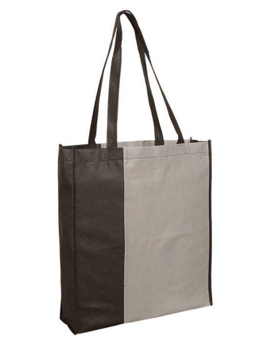 PP City Bag 3 mit langen Henkeln in Grau/Schwarz | Druckerei Dorsten.de