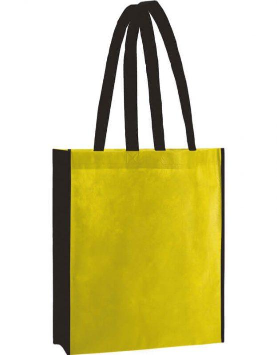 PP Tasche City Bag 2 mit langen Henkeln in Gelb/Schwarz | Druckerei Dorsten.de
