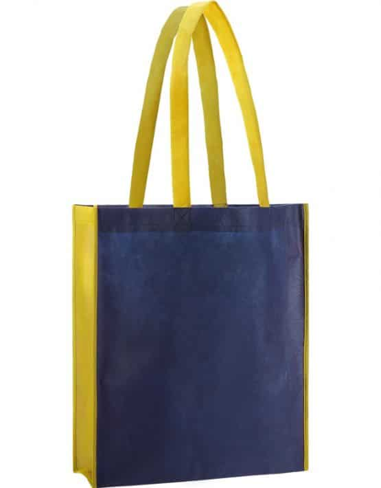 PP Tasche City Bag 2 mit langen Henkeln in Dunkelblau/Gelb | Druckerei Dorsten.de