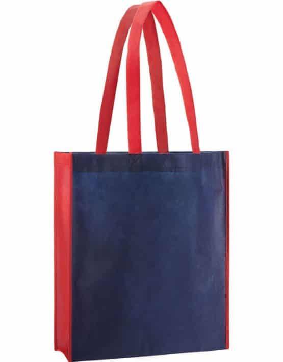 PP Tasche City Bag 2 mit langen Henkeln in Dunkelblau/Rot | Druckerei Dorsten.de