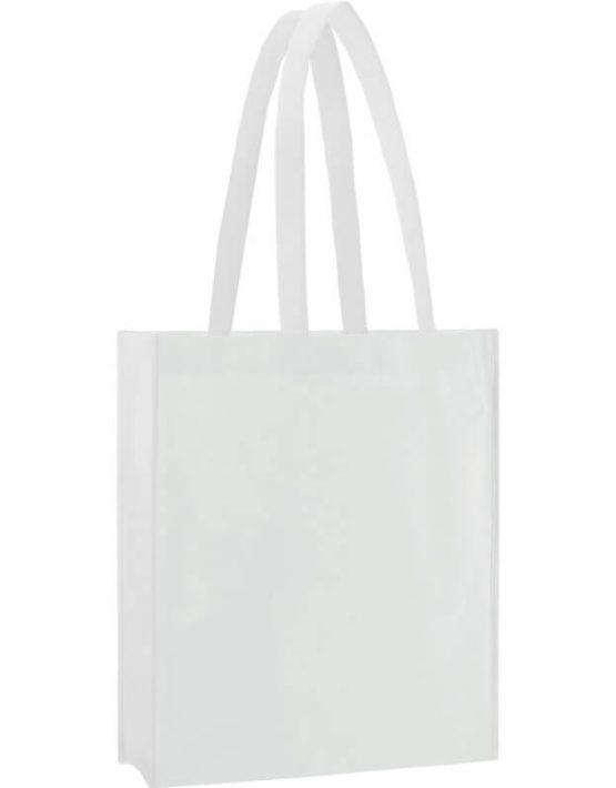 PP Tasche City Bag 2 mit langen Henkeln in Weiß | Druckerei Dorsten.de