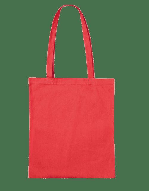 baumwolltasche unbedruckt rot mit langen henkeln druckerei dorsten textildruck und. Black Bedroom Furniture Sets. Home Design Ideas