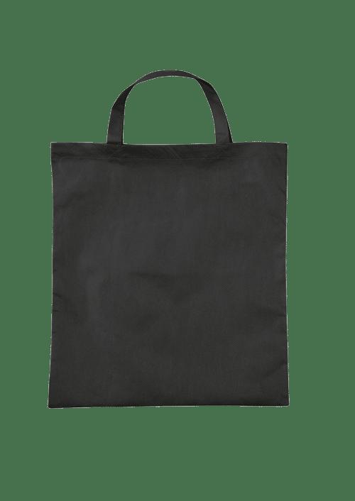 Vliestasche bedrucken lassen mit kurzen Henkeln.