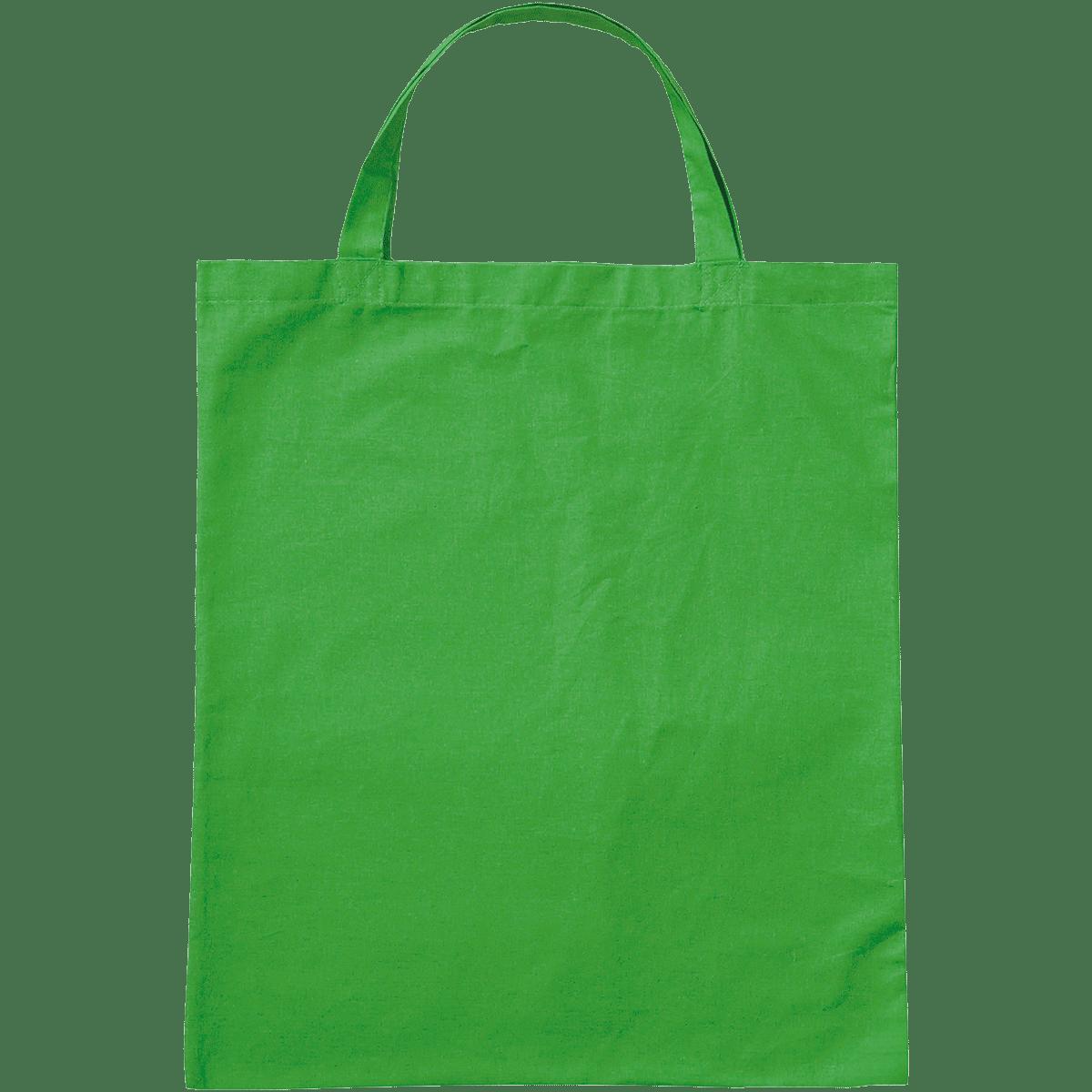 Baumwolltasche Maigrün mit 2 kurzen Henkeln.