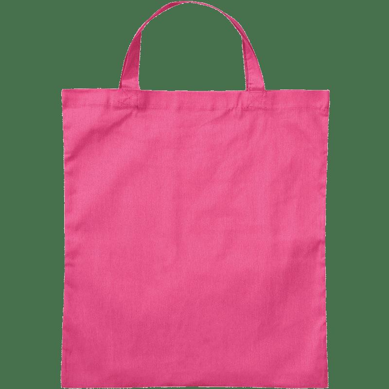 Baumwolltasche kurze Henkel Pink 38 x 42 cm