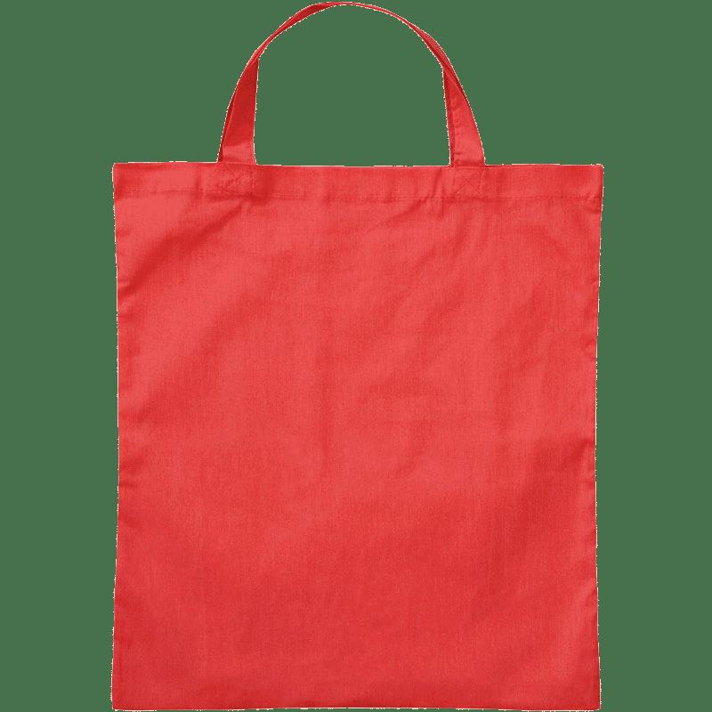 Rote Baumwolltasche mit 2 kurzen Henkeln