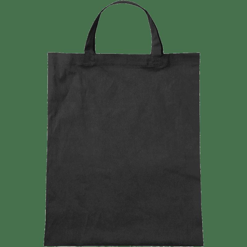 Baumwolltasche mit kurzen Henkeln in Schwarz