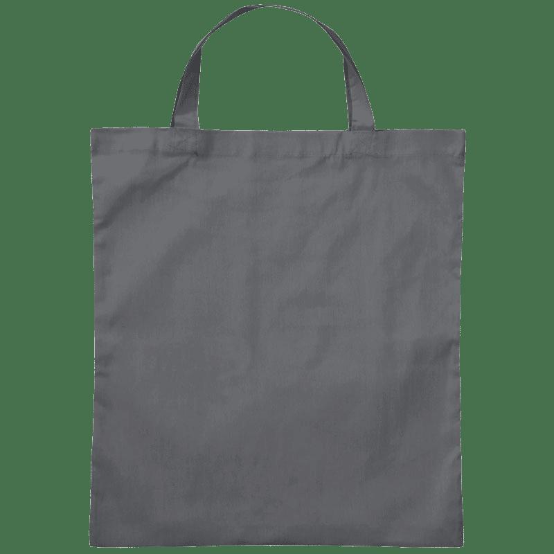 Baumwolltasche mit kurze Henkel Stahlgrau 38 x 42 cm