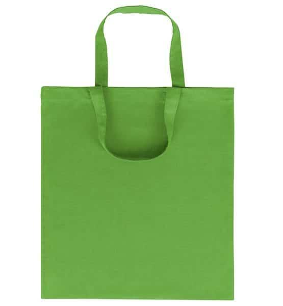 Goprom Baumwolltaschen kurze Henkel apple-green apfelgrün 38 x 42 cm 2315
