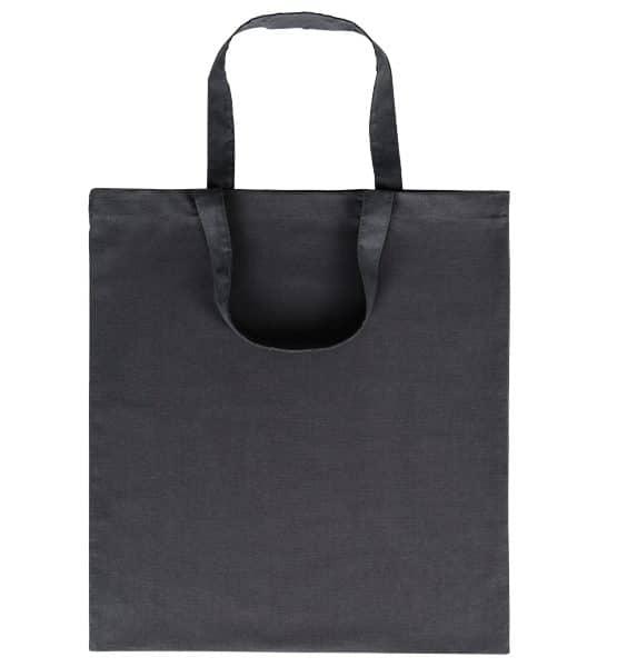Goprom Baumwolltaschen kurze Henkel black schwarz 38 x 42 cm 2315