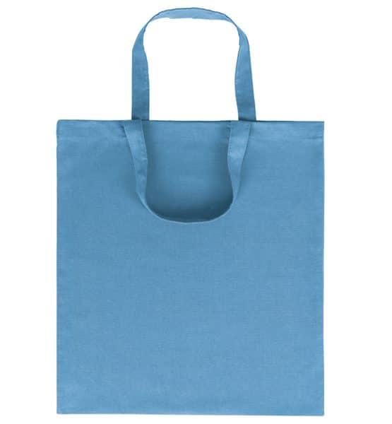 Goprom Baumwolltaschen kurze Henkel cyan hellblau 38 x 42 cm 2315