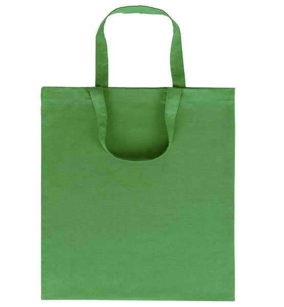 Goprom Baumwolltaschen kurze Henkel green grün 38 x 42 cm 2315