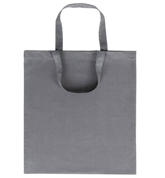 Goprom Baumwolltaschen kurze Henkel grey grau 38 x 42 cm 2315