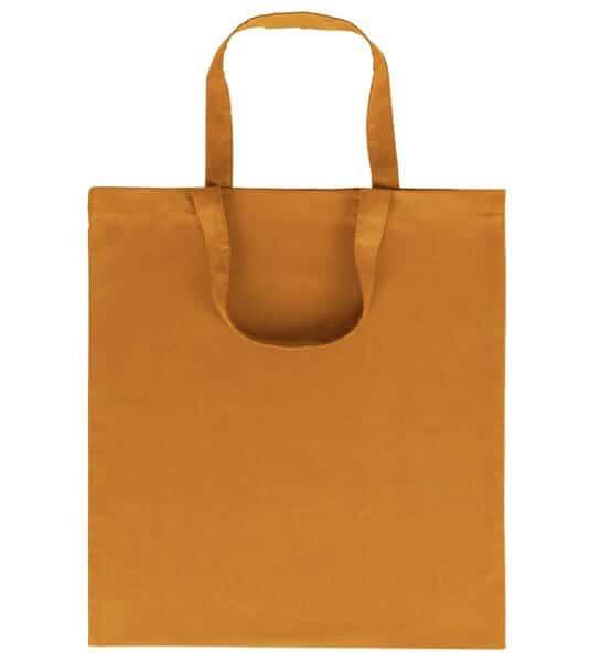 Goprom Baumwolltaschen kurze Henkel orange 38 x 42 cm 2315