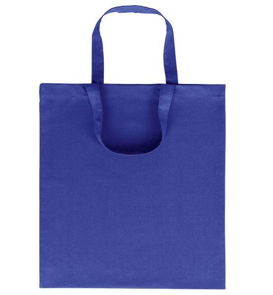Goprom Baumwolltaschen kurze Henkel royal königsblau 38 x 42 cm 2315