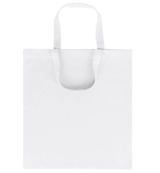Goprom Baumwolltaschen kurze Henkel white weiss 38 x 42 cm 2315