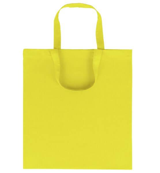 Goprom Baumwolltaschen kurze Henkel yellow gelb 38 x 42 cm 2315