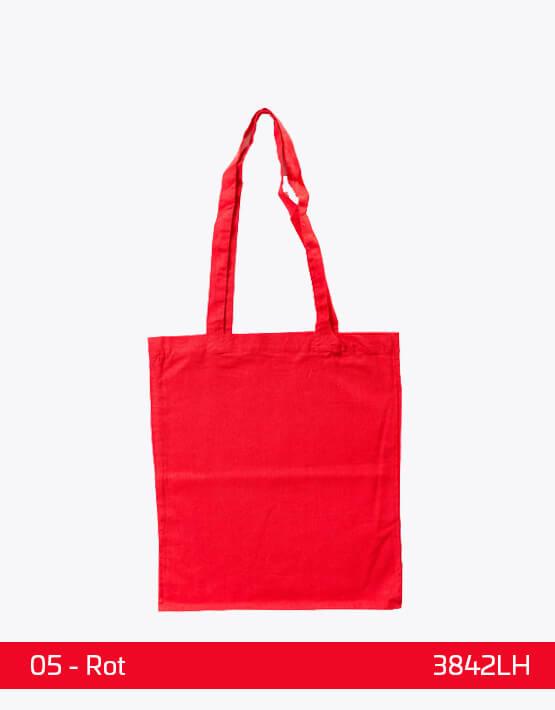 Baumwolltaschen lange Henkel Rot 38 x 42 cm 3842LH