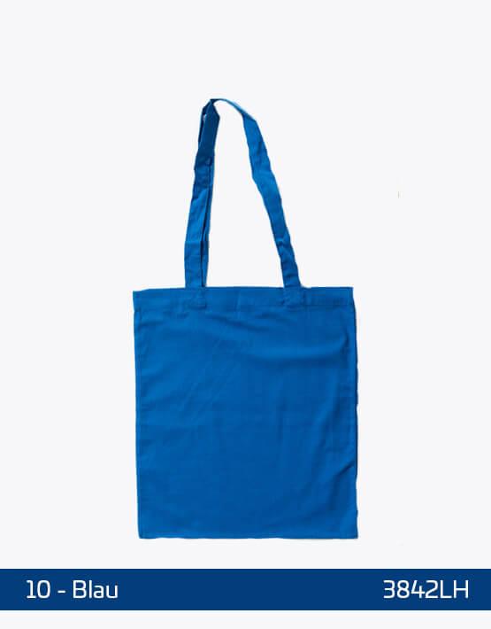 Baumwolltaschen lange Henkel Blau 38 x 42 cm 3842LH