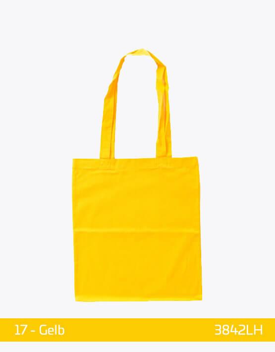 Baumwolltaschen lange Henkel Gelb 38 x 42 cm 3842LH