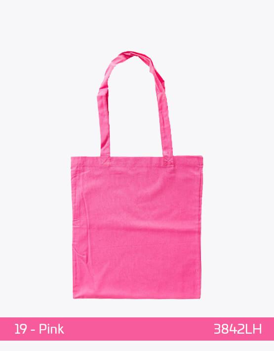 Baumwolltaschen lange Henkel Pink 38 x 42 cm 3842LH