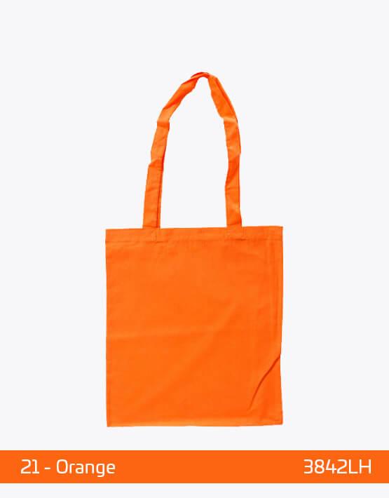 Baumwolltaschen lange Henkel Orange 38 x 42 cm 3842LH