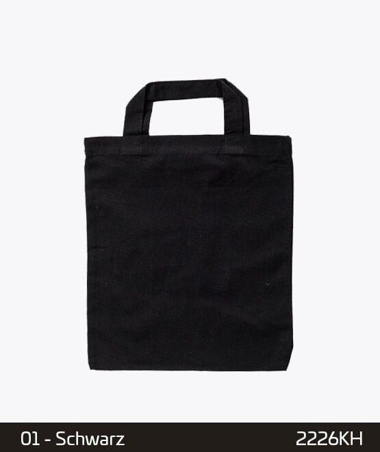 Apothekertaschen Schwarz 22 x 26 cm Mini-Baumwollen