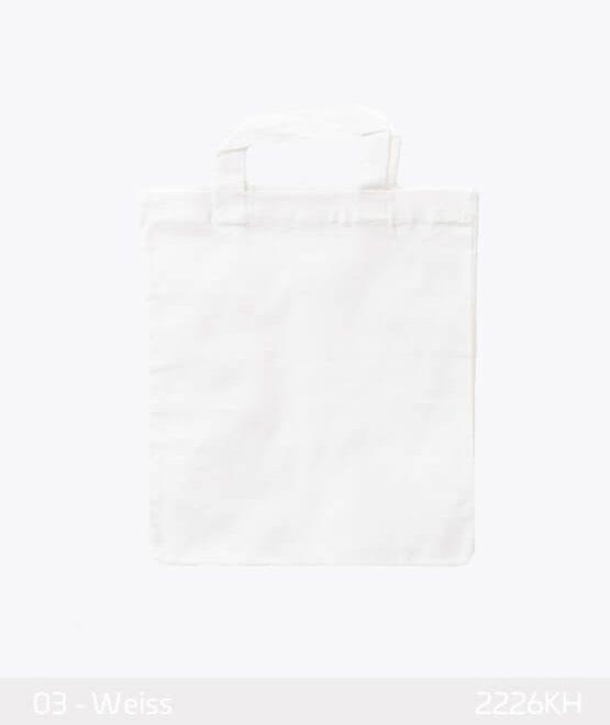Apothekertaschen weiss weiß 22 x 26 cm Mini-Baumwollen