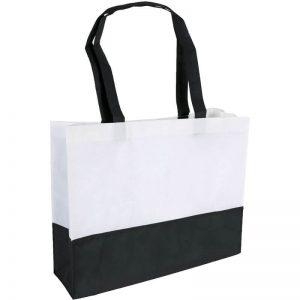 PP Tasche City Bag mit langen Henkeln Schwarz/Weiß | Druckerei Dorsten.de-schwarz