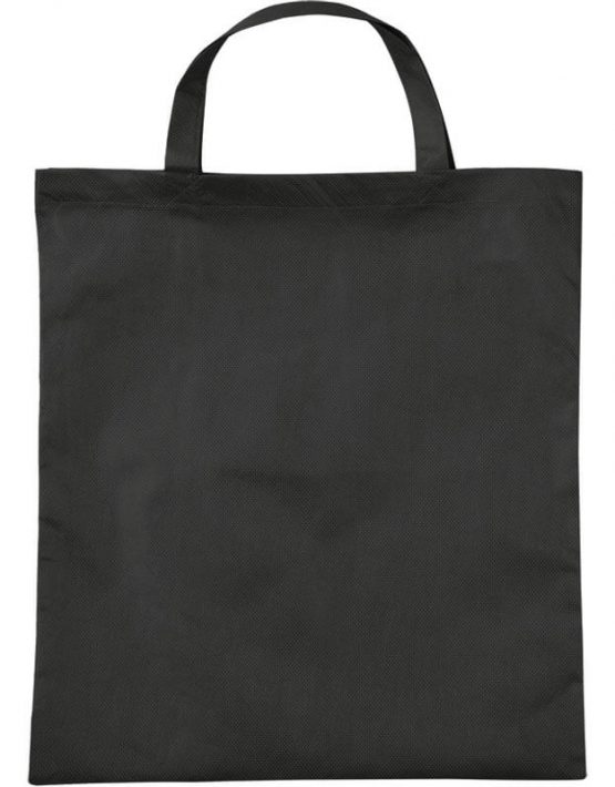 PP-Tasche mit Bodenfalte kurze Henkel in Schwarz | Druckerei Dorsten.de
