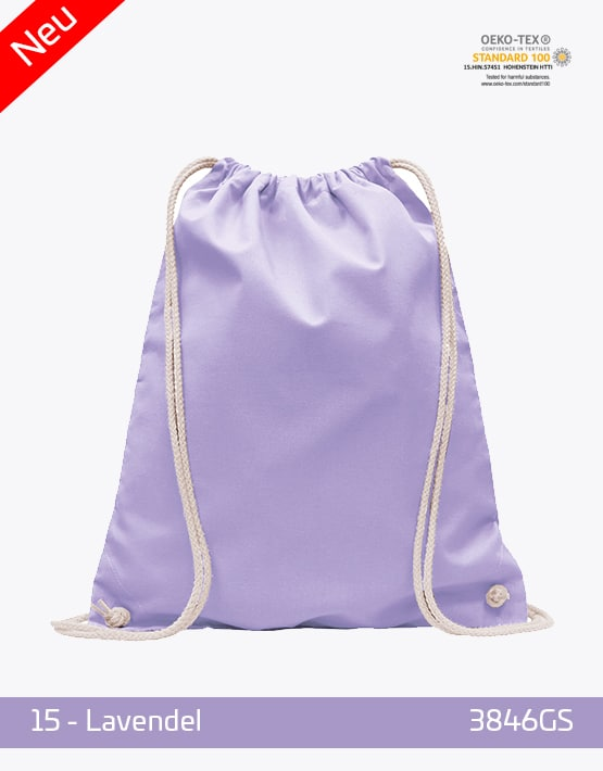 Turnbeutel Baumwolle Lavendel