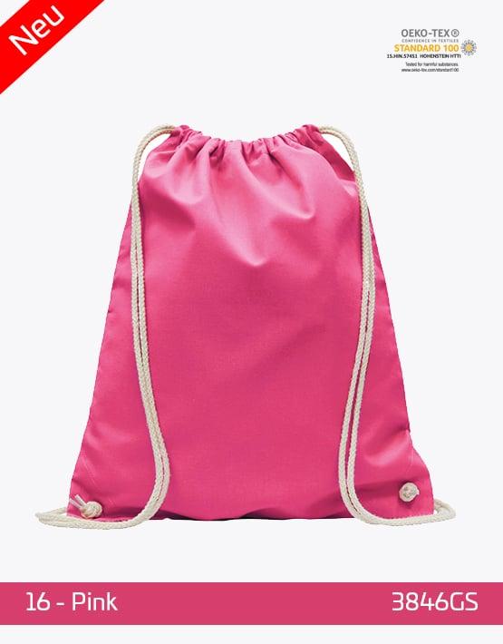 Turnbeutel Baumwolle Pink