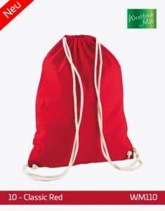 Turnbeutel Westford Mill WM110 Gymsac Classic Red