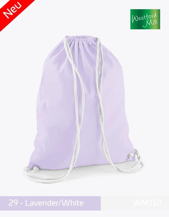 Turnbeutel Westford Mill WM110 Gymsac Lavender White