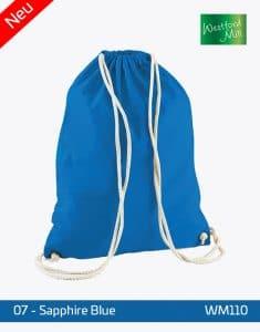 Turnbeutel Westford Mill WM110 Gymsac Saphire Blue