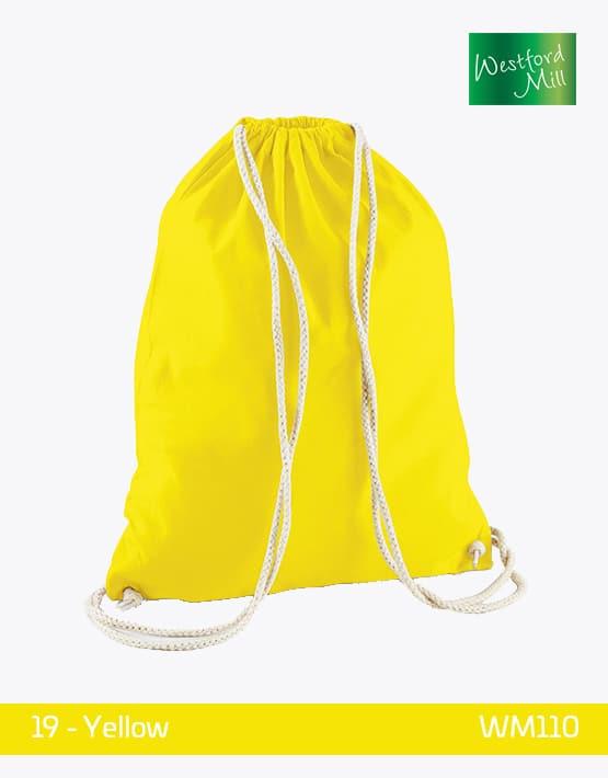 Turnbeutel Westford Mill WM110 Gymsac Yellow
