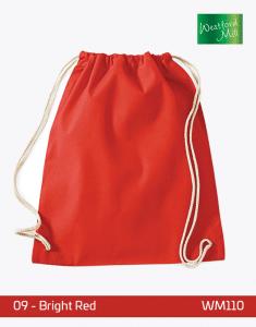 Turnbeutel Westford Mill WM110 Gymsac Bright Red