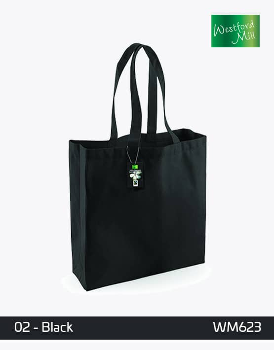 Westfrod Mill Cotton Shopping Bag Black