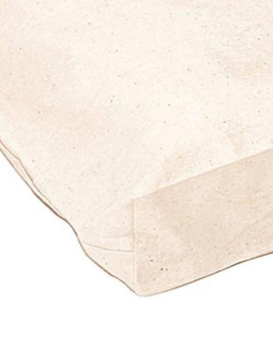 Baumwolltasche kurze Henkel mit Bodenfalte Ansicht