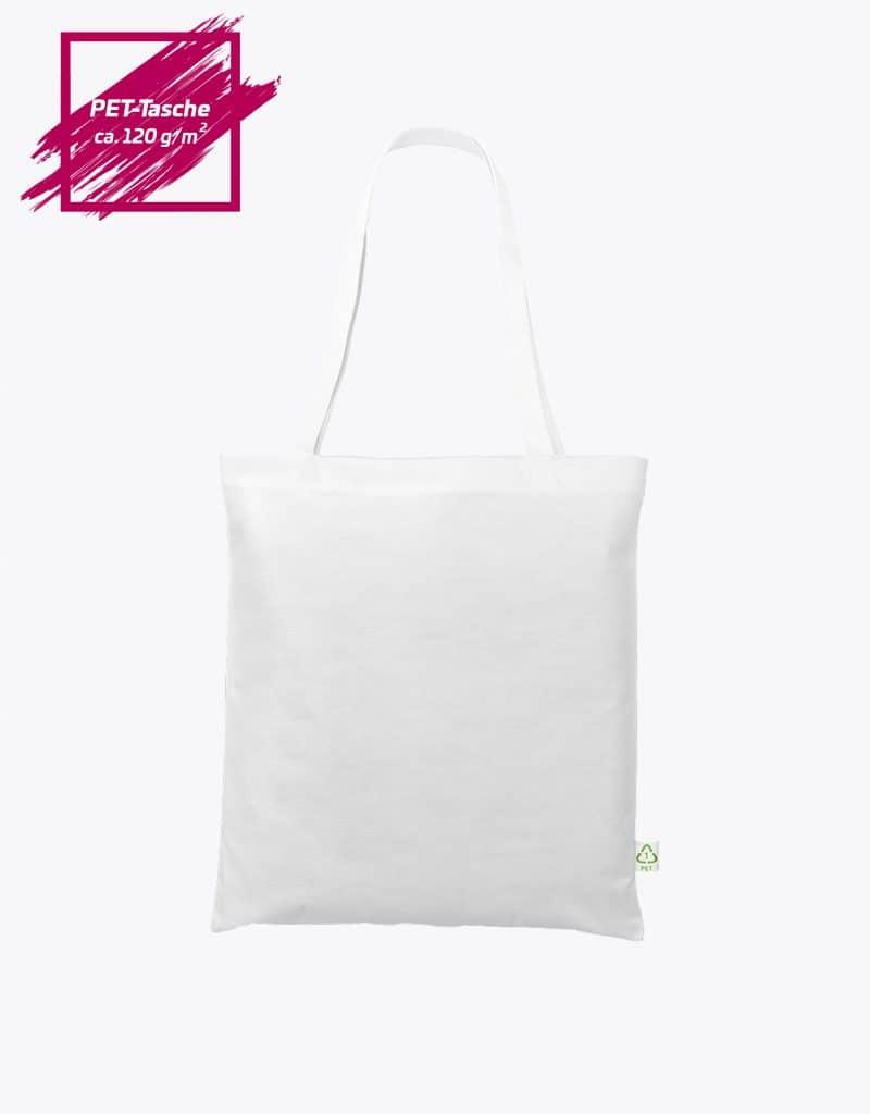 PET Recycling Einkaufstasche lange Henkel 38x42 cm